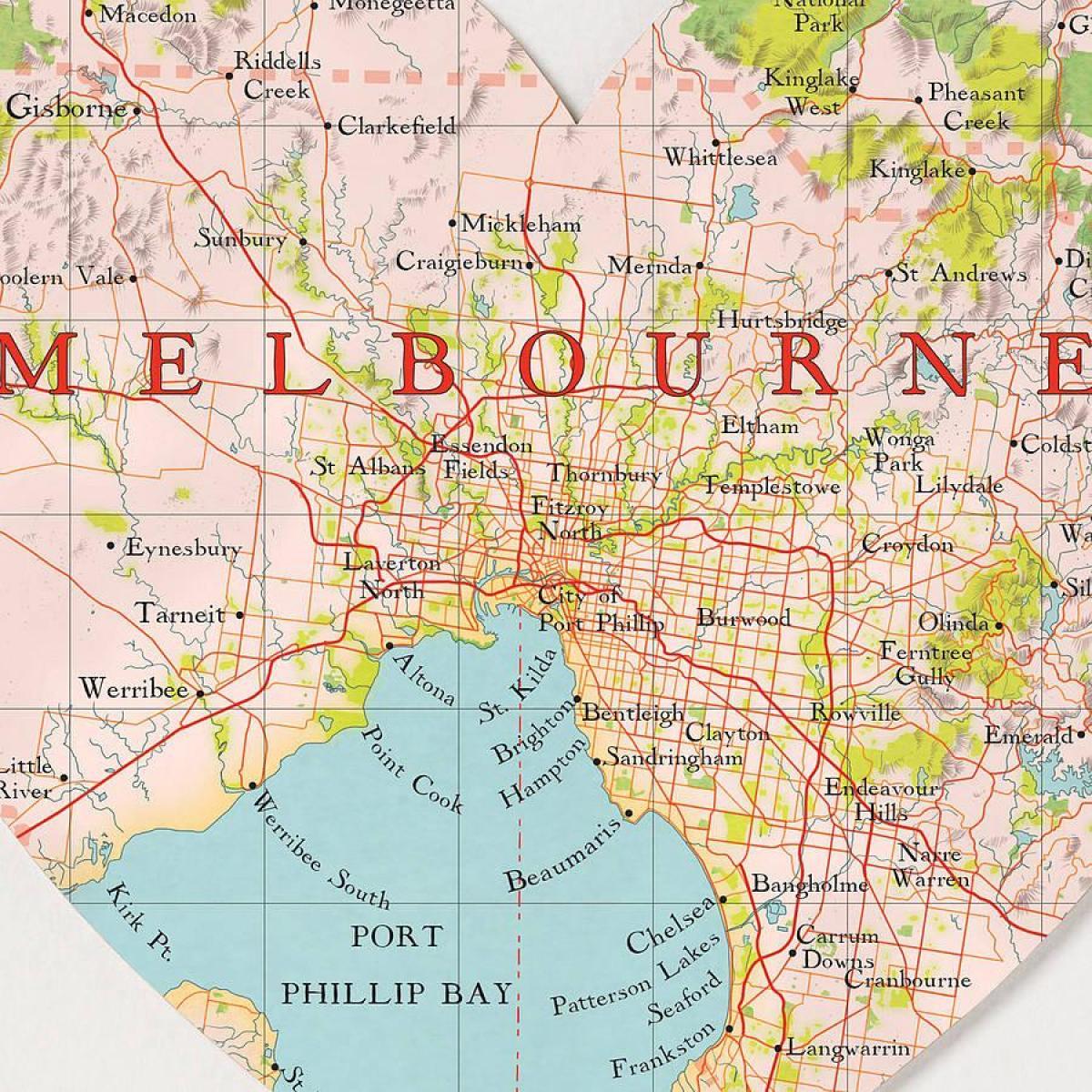 Melbourne Auf Der Karte Melbourne Weltkarte Australien